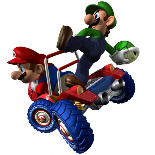 Mario Kart: Double Dash allows you and your friend to both jump into the same cart and compete against fellow racers.