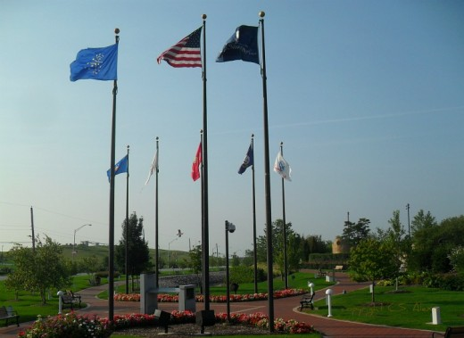 Freedom to fly the flags we honor. The Edward P. Robinson Veterans Memorial is dedicated to the sacrifices and accomplishments of veterans of major military conflicts that shaped the 20th century.