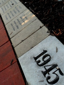 Through World War II, Korea,Vietnam and Desert Storm, The winding walkway is filled with the history of US soldiers.