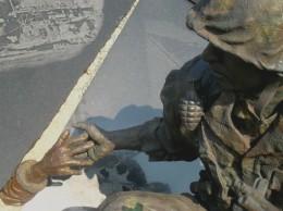 Sculptor Julie Rotblatt-Amrany works in bronze