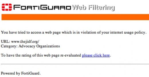 Fortiguard web filter