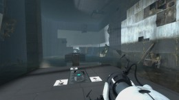 Test Chamber 05 in Chapter 2 of Portal 2, introducing us to faith plates.