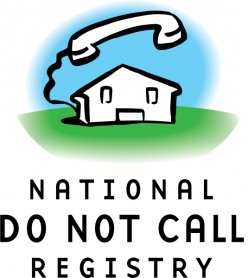 Do Not Register with the Do Not Call Registry