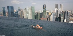 Marina Bay Sands. (Scariest Swimming Pool)?