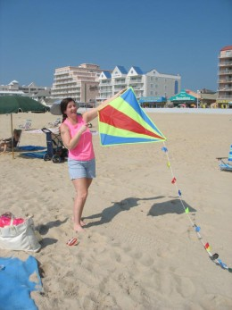 Flying a kite on the beach just can't happen today.