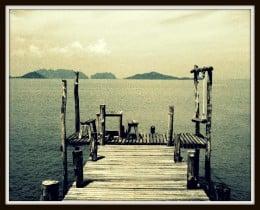 Boat Pier at Koh Lanta Yai.