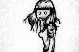 wide-eyed zombie looking girls are scary not hot