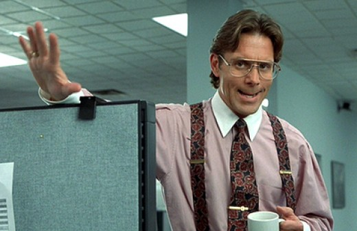 Bill Lumberg from the movie Office Space