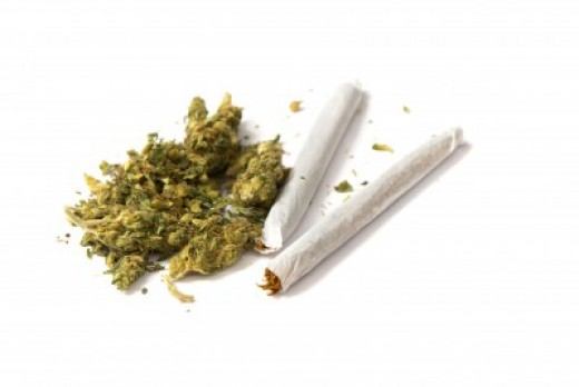 "Marijuana and two Marijuana ""Joints"""