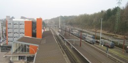 Esch-sur-Alzette (Luxembourg) station seen from the footbridge