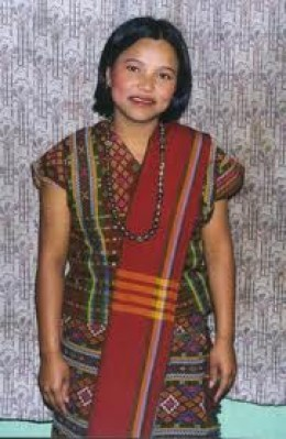 TRADITIONAL DRESS OF MIZORAM LADY.