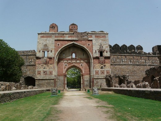 Front view of the lovely Lal Darwaza