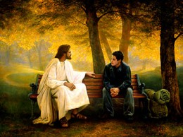 Man enjoying a close relationship with the Lord.