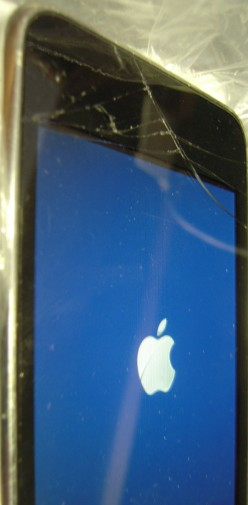 Repairing a non-responsive touch screen on an iPod Touch.