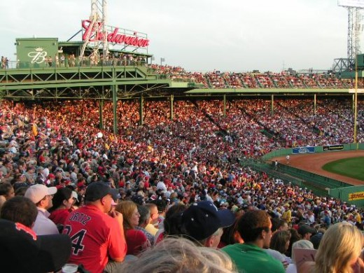 Red Sox fans at Fenway park.