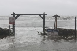 More storm surge in Milford, CT during Hurricane Irene