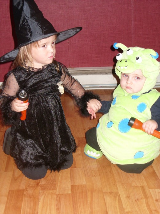 My Daughter and Nephew as a witch and monster