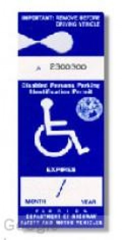 Obtaining a Handicapped Parking Permit