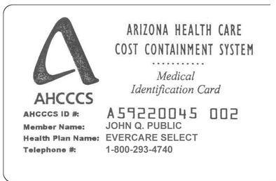 AHCCCS ID Card