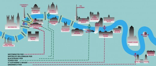 Map graphic from City Cruises