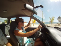 Enjoying a drive around the island