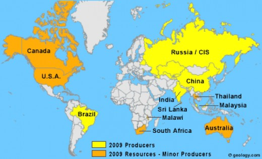 map of countries producing ree