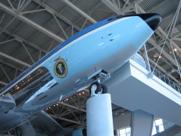 Air Force One on display (tail number 27000).