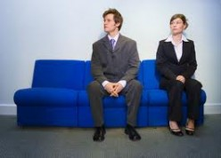 Job Interview jeeters. Anticipation! Both of these job applicants are dressed appropriately for a job interview! My advice to these two would be to relax!