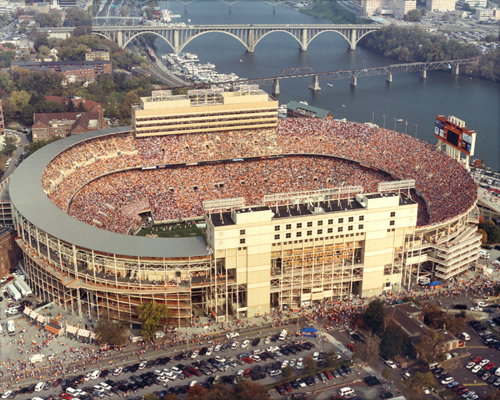 Aerial view of Neyland Stadium