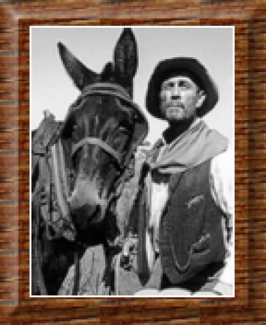 """KEN """"FESTUS"""" CURTIS, (right) was Marshall Dillon's trusted sidekick. Festus had his own trusted sidekick, """"Ruth,"""" his mule. My favorite sidekick would have to be Festus Haggan."""