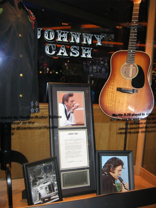 Interesting Johnny Cash exhibit.