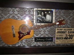 Johnny Cash has exhibits in two locations in this hotel.