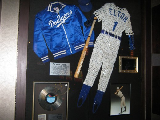 Baseball uniform once worn by Elton John
