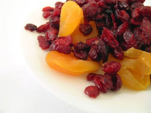 Dried fruits add sweetness to no bake cookies.