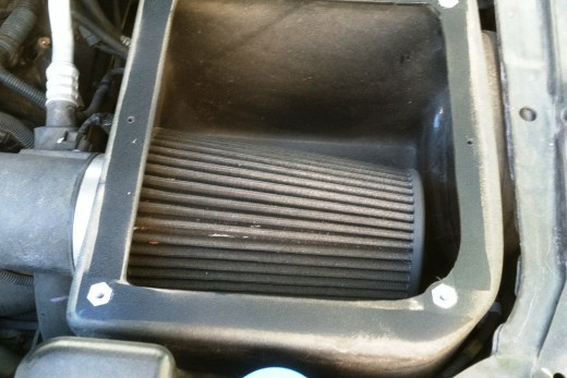The first task at hand is to remove your K&N, Volant, Brute Force, etc. filter from your vehicle.