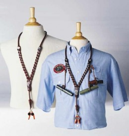 The Ultimate Coyote Leather Lanyard