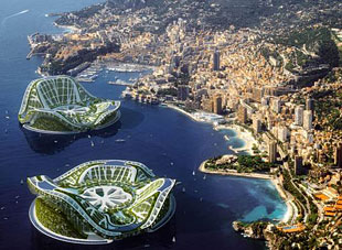 Plans for Floating Gren Eco-cities if level of oceans raises up in 100 years