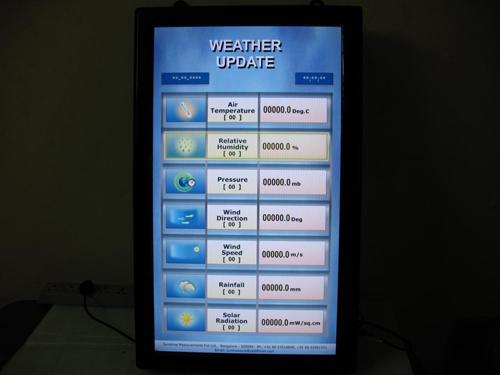 Temperature display using flash