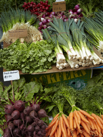 Vegetable Stall at Saturday Market, Salamanca Place, Hobart, Tasmania, Australia, by David Wall