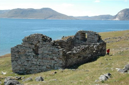 Hvalsey Church, Greenland.  This Norse church served parishioners for about five hundred years.  Image courtesy ilovegreenland & Flickr.