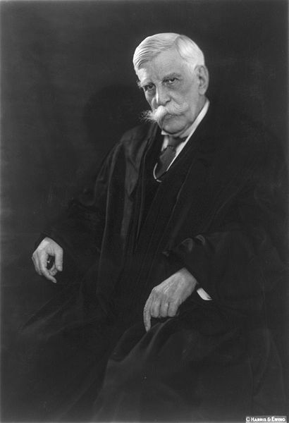Oliver Wendell Holmes, Jr., jurist and theorist of 'Pragmatism,' about 1930.  Image courtesy Wikimedia Commons.