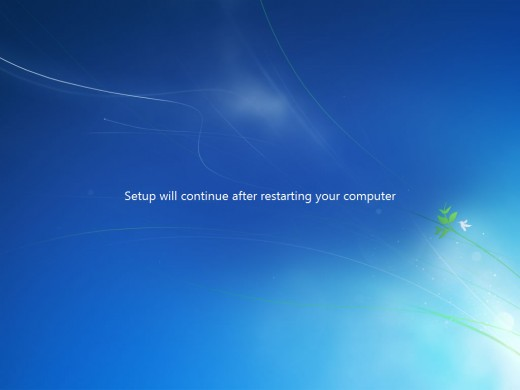 Again system will reboot, you do not need to do anything