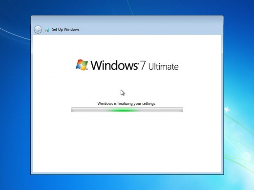 Now windows will finalize the settings for the administrator.