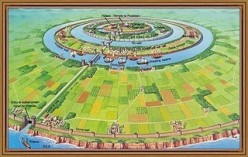 The city of Atlantis conceptual art.