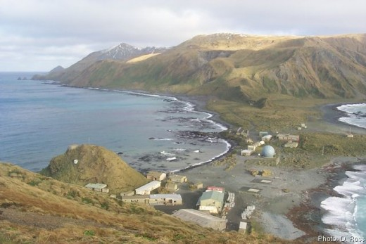 MacQuarie Island on a very fine summer's day.
