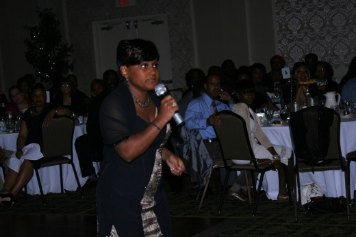"Sheila captures the heart of her audience as she sings, ""I Feel Good,"" by Stephanie Mills."