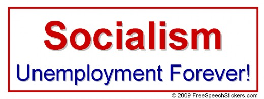 Check out the bumper stickers at this site. They are awesome! This particular one fits perfectly for the subject at hand. Socialism does not equal free market!