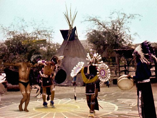 Amerindian rain dance ceremony