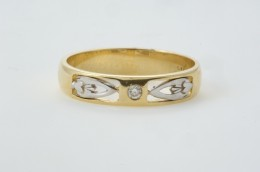 Modern twist on a Claddagh Wedding Ring design