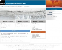 Another website copy as the Brussels commodities exchange